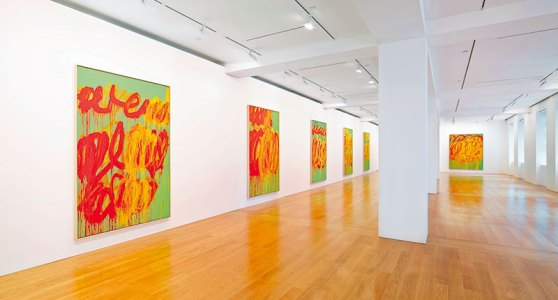Cy Twombly: The Last Paintings (Installation view, 2012), Gagosian Gallery Hong Kong