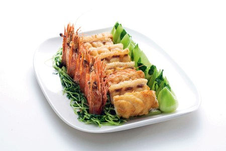 Stir-fried sliced giant garoupa stuffed with shrimp paste, Ming Court