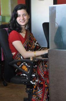 Huzan Tata in her grandmother's sari