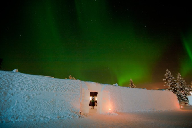 Northern Lights seen from Icehotel