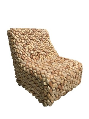 DIFFERNITURE: Wooden Upholstery Chair, wood
