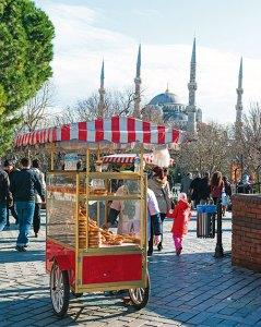 The ubiquitous simit cart