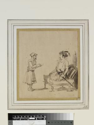 Jahangir receiving an officer by Rembrandt