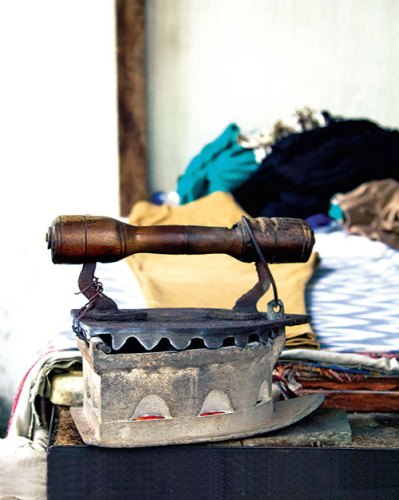 The dhobi istri is an indigenous version of the steam iron