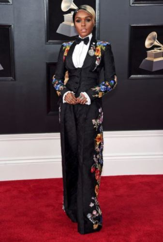 Janelle Monae in in Dolce & Gabbana and Christian Louboutin shoes
