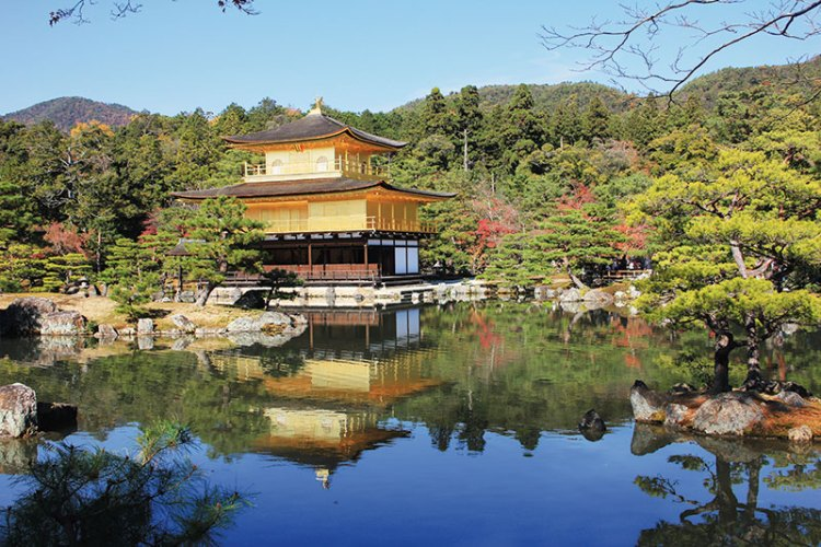 Kinkaku-ji, the Golden Pavilion, in Kyoto
