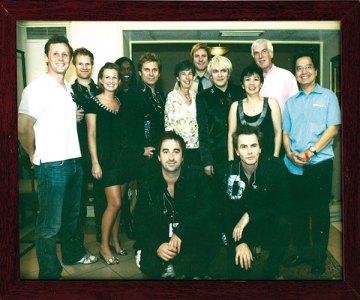 With pop group Duran Duran