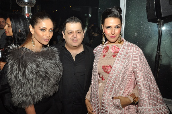 Kalyani Chawla, Rohit Gandhi, Neha Dhupia at the Temperley London SS15 Launch