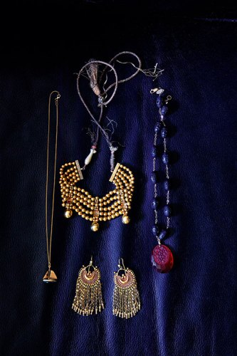 Vintage Indian jewellery from Kavi's mother