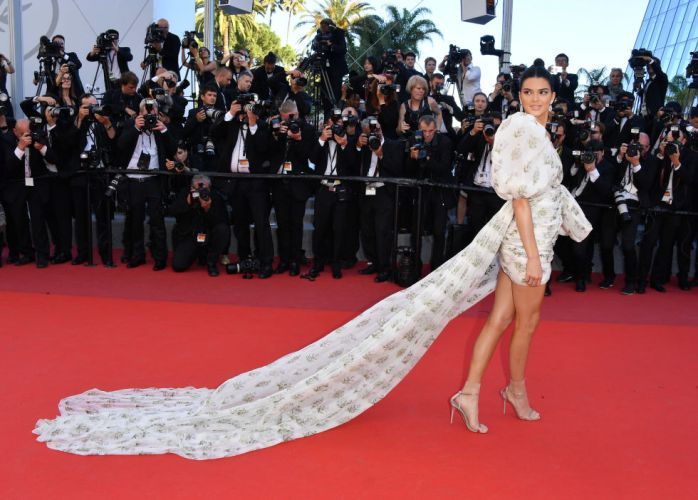 Kendall Jenner in a Giambattista Valli Couture dress and Chopard jewels