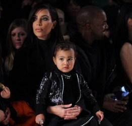 Kim Kardashian, North West at Alexander Wang