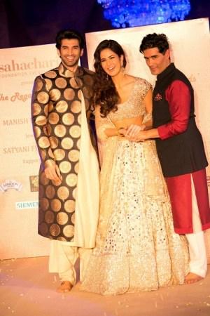 Aditya Roy Kapoor, Katrina Kaif, Manish Malhotra