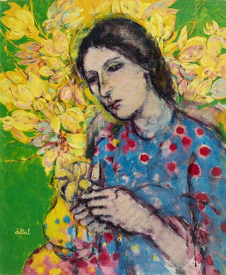 Lady with Yellow Vase