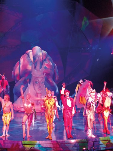 A Still from Mystere by Cirque Du Soleil at Treasure Island Hotel on the Strip