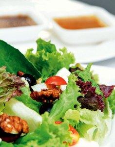 Organic lettuce salad