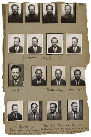 A recto, Rare page from Souza's personal scrapbook