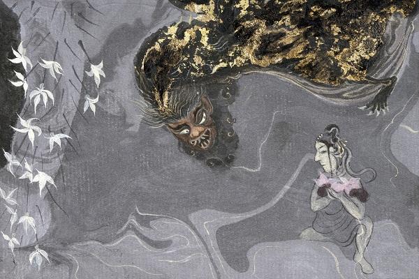 Artwork by Poushali Das at Akara Art, Mumbai