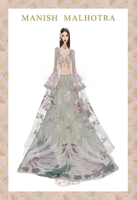 Sketches Of Indian Dresses By Manish Malhotra Chelss Chapman