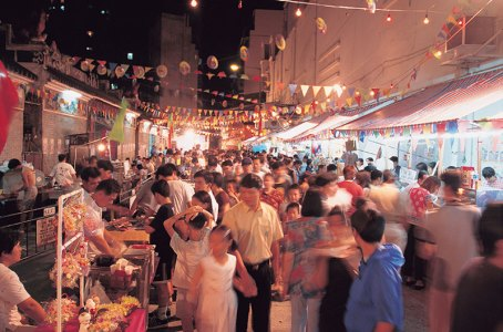 Cruising the night market