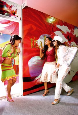 Shopaholics united: Malini Ramani, Ameeta Seth and Saira Essa