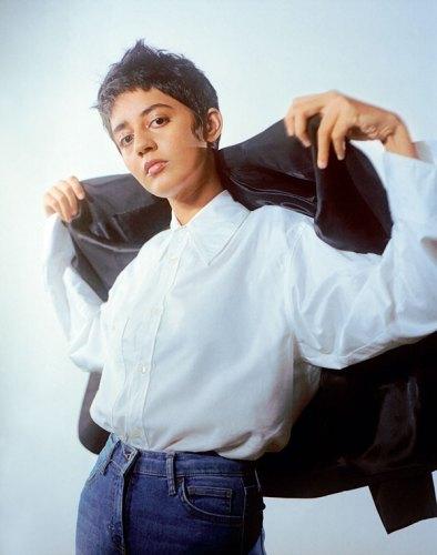 Jacket, from Zara; Shirt, from Massimo Dutti; Denims, Mallika's own.