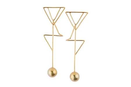 Misho Designs geometric earrings