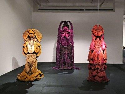 Mrinalini Mukherjee's hemp sculptures