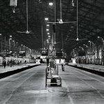 Churchgate railway station, the southernmost terminus on the Western line of the Mumbai Suburban Railway.