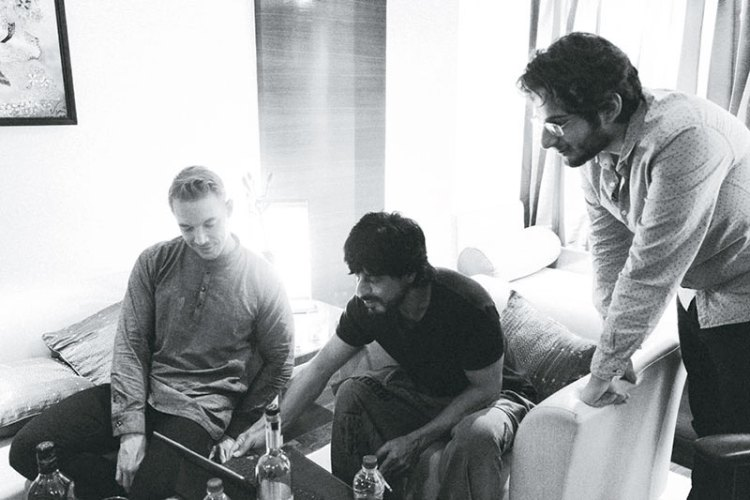 Diplo and Mikhail Mehra with Shah Rukh Khan