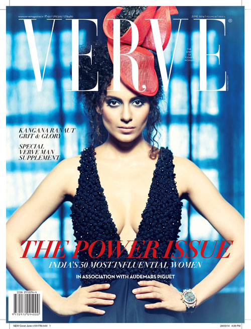 Verve's June 2014 Power Issue with Kangna Ranaut; 50 most influential women in India