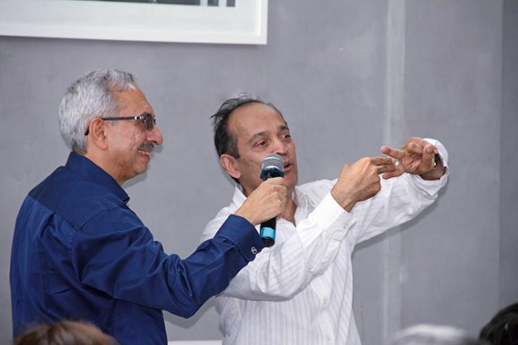Nadir Godrej with Vikram Seth