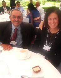 Nadir and Rati Godrej at the World Economic Forum India Summit in Delhi