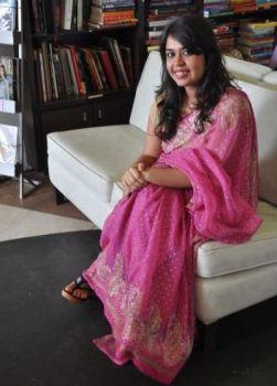 Natasha Sahjwani in her mother's sari