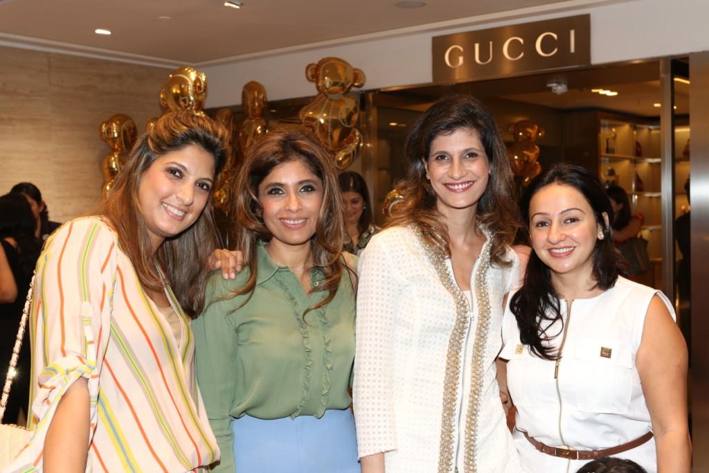 Nayntara Thacker, Roohi Jaikishan, Farah Oomerbhoy and Penny Patel at Gucci children's event