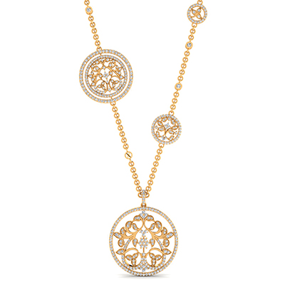 Nazraana necklace with diamonds and gold