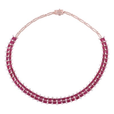 Necklace by Gem Plaza, Jaipur set with Gemfields Mozambican Rubies