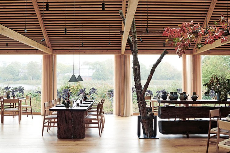 Main dining room, Noma. Photograph by Ditte Isager