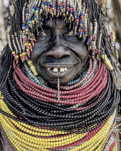 An Eldery Nayngatom Tribe Matriarch