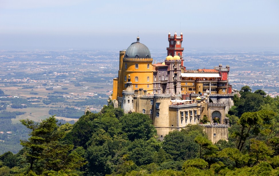Portugal Europe Palace of Pena in Sintra mountains travel