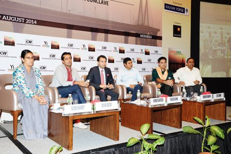Panelists at the CII Young Indians conference