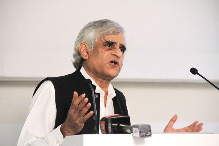 P. Sainath speaking at the Godrej India Culture Lab