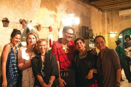 Parmesh Shahani with  Maithili Ahluwalia, Alice Cicolini, Lulu, Jamini Ahluwalia and Bandana Tewari