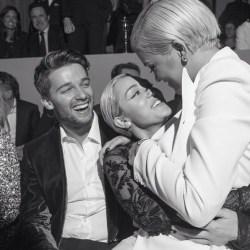 Patrick Schwarzenegger, Miley Cyrus, Rita Ora at Tom Ford
