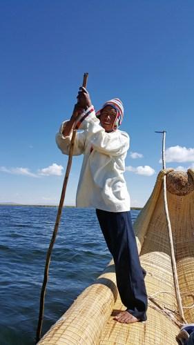 A boatman on Lake Titicaca