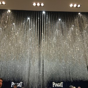 Piaget's booth - sparkly showers