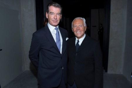 Pierce Brosnan, Giorgio Armani