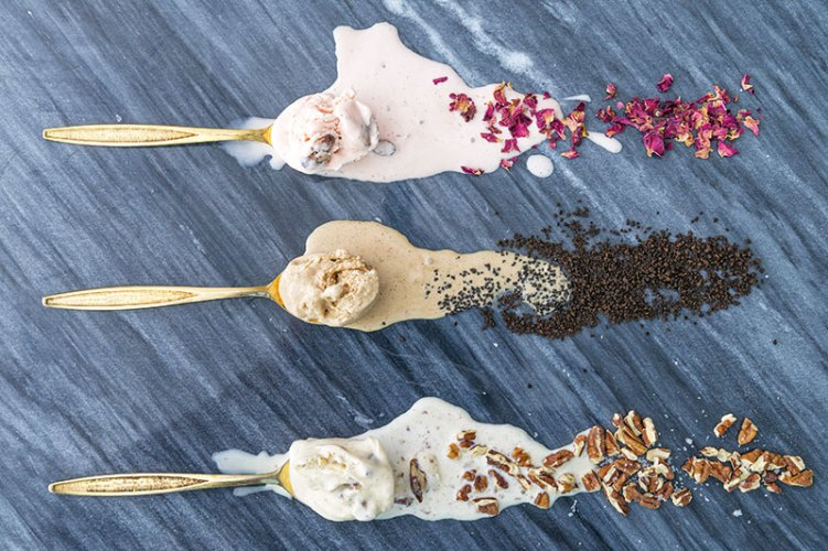 Spoonfuls of rose, masala chai and butter pecan flavours