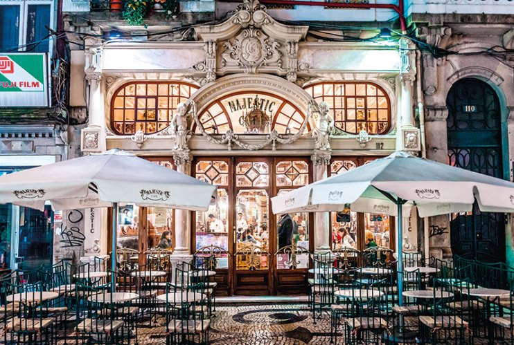 The ornate facade of the much-awarded Majestic Café