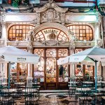 The ornate facade of the much-awarded Majestic Café, Porto