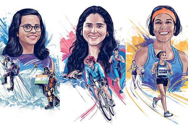 Priyanka Mohite, Mountaineer, Solonie Singh Pathania, Triathlete, Anjali Saraogi, Ultrarunner